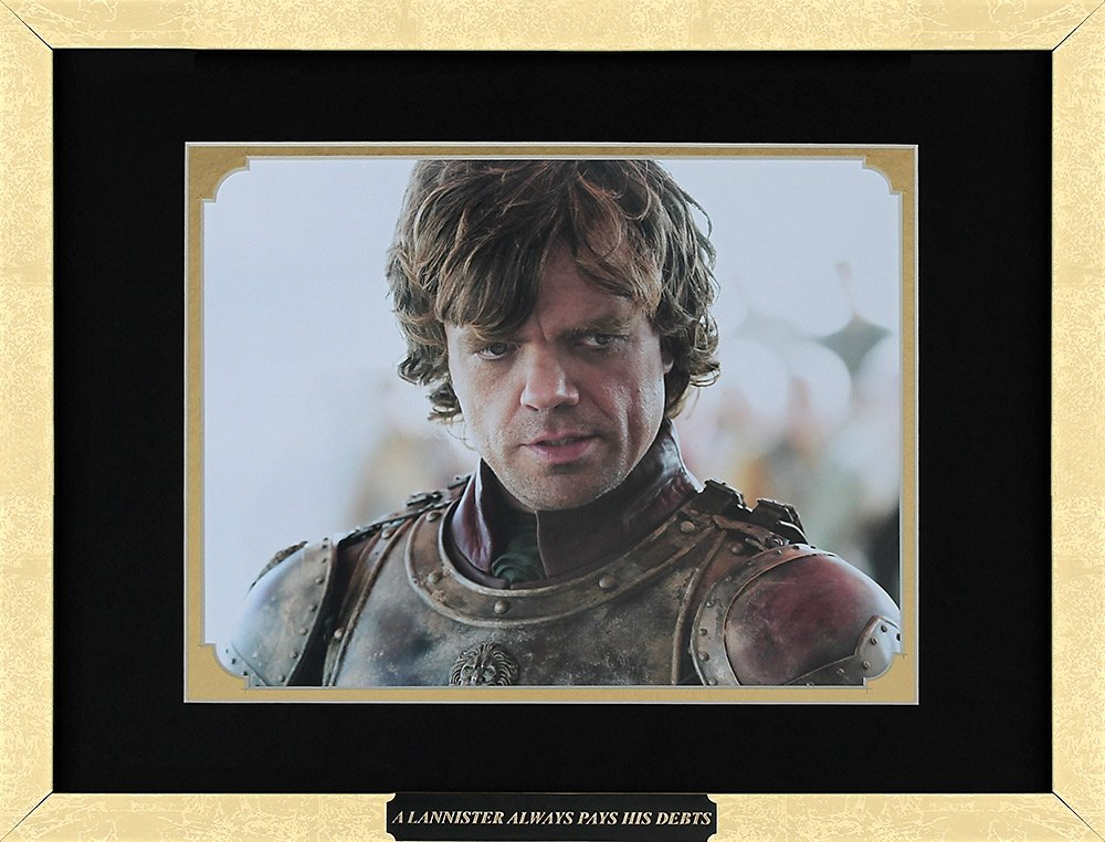 Game of Thrones - Peter Dinklage as Tyrion Lannister. Framed Movie Photo with Plate (15 x 12)