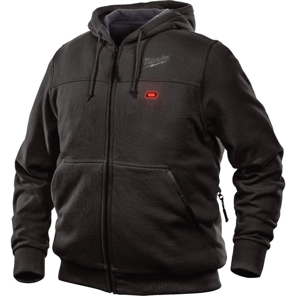 Milwaukee Hoodie M12 12V Lithium-Ion Heated Jacket Front and Back Heat Zones - Battery Not Included - All Sizes and Colors (Large, Black) by Milwaukee
