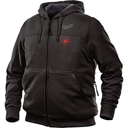 Milwaukee Hoodie M12 12V Lithium-Ion Heated Jacket Front and Back Heat  Zones - Battery Not Included - All Sizes and Colors (Large, Black)