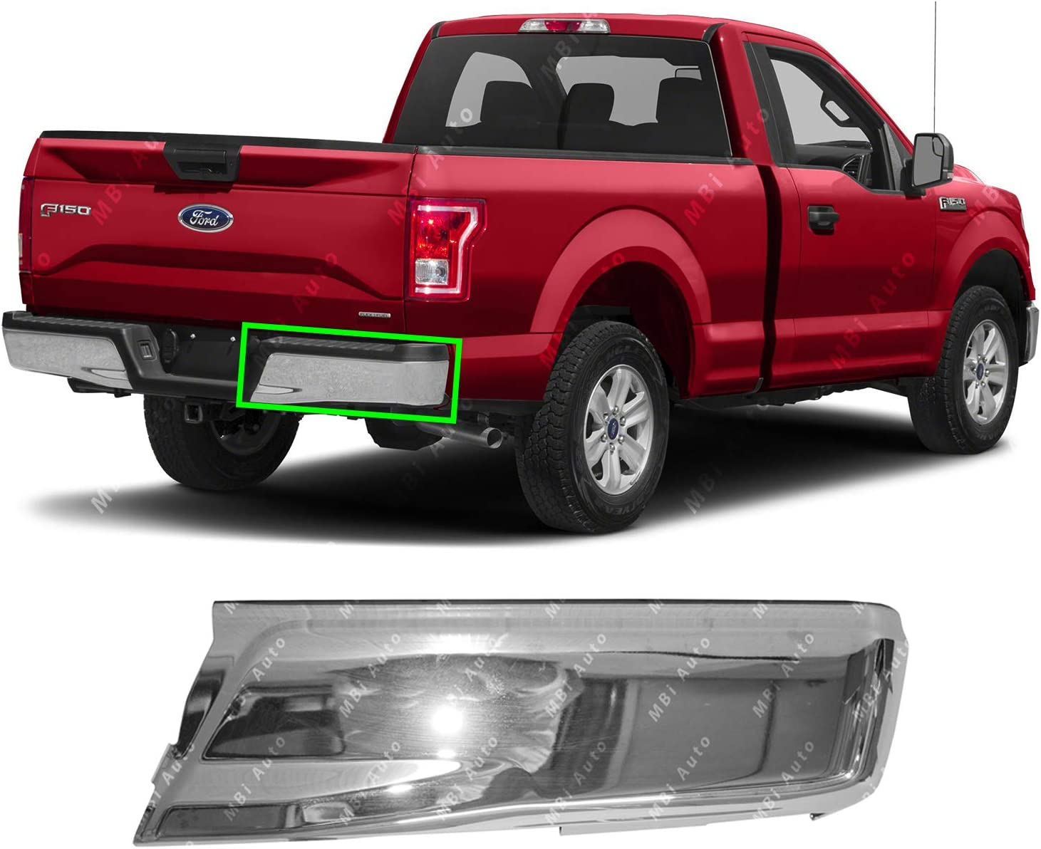 BUMPERS THAT DELIVER FO1102380 Chrome Steel Right RH Passenger Side Bumper Face Bar for 2015 2016 2017 Ford F-150 15 16 17