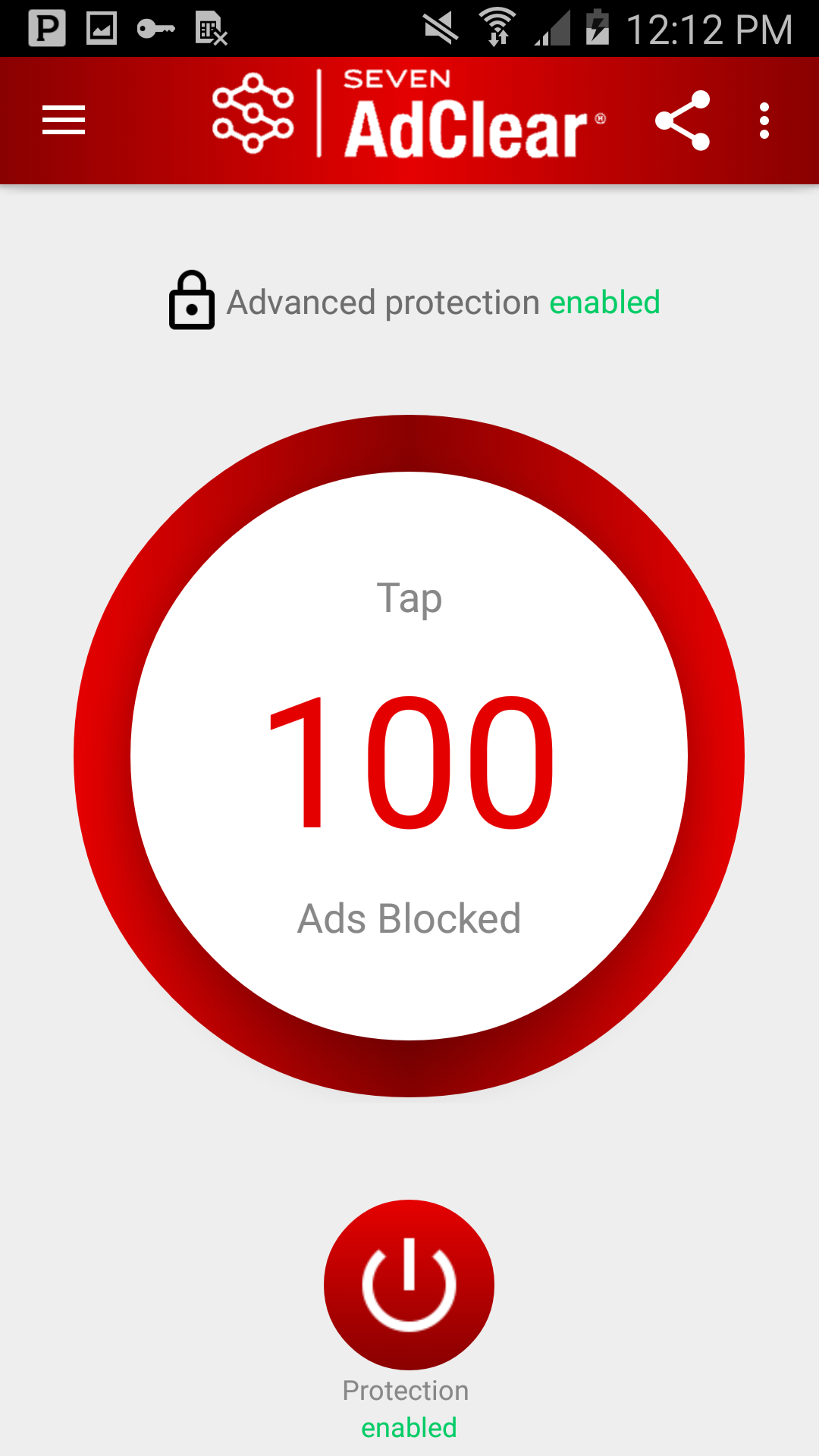 AdClear ad blocker for Android Screenshot