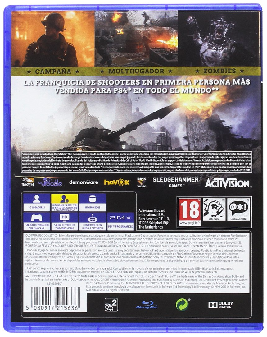 Call Of Duty Wwii Playstation 4 Amazon Es Videojuegos