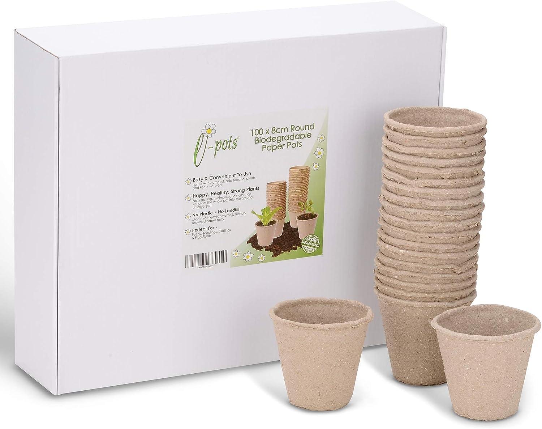 e-pots - Macetas Redondas biodegradables (100 x 8 cm, en plástico ...