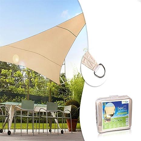 Green Blue - Toldo para jardín Vela de sombra cuadrado o triangular Impermeable diferentes medidas (