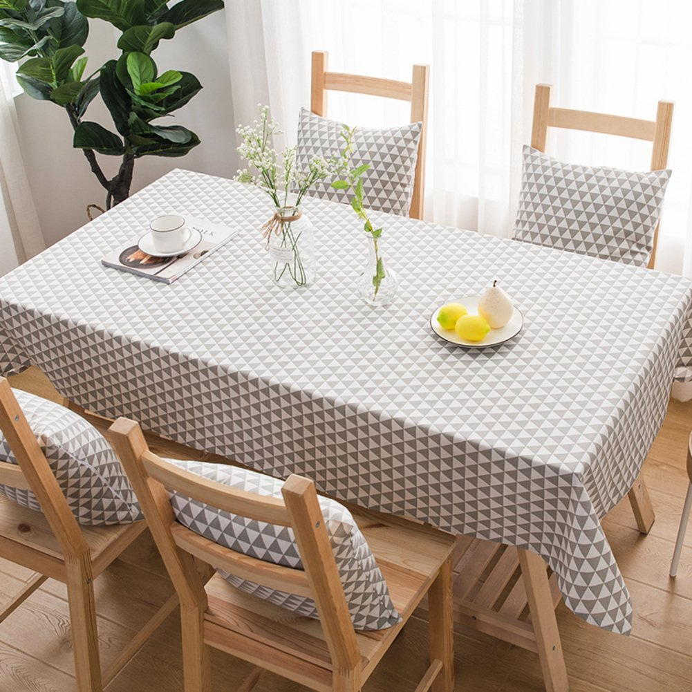 Bbdsj Home tablecloth,Vintage tablecloth,Grid tablecloth,Fabric cotton linen [rural] Modern family Tea table Clean Oblong table cloth Square tablecloths Green table cloth-green 60x60cm(24x24inch) Aaron