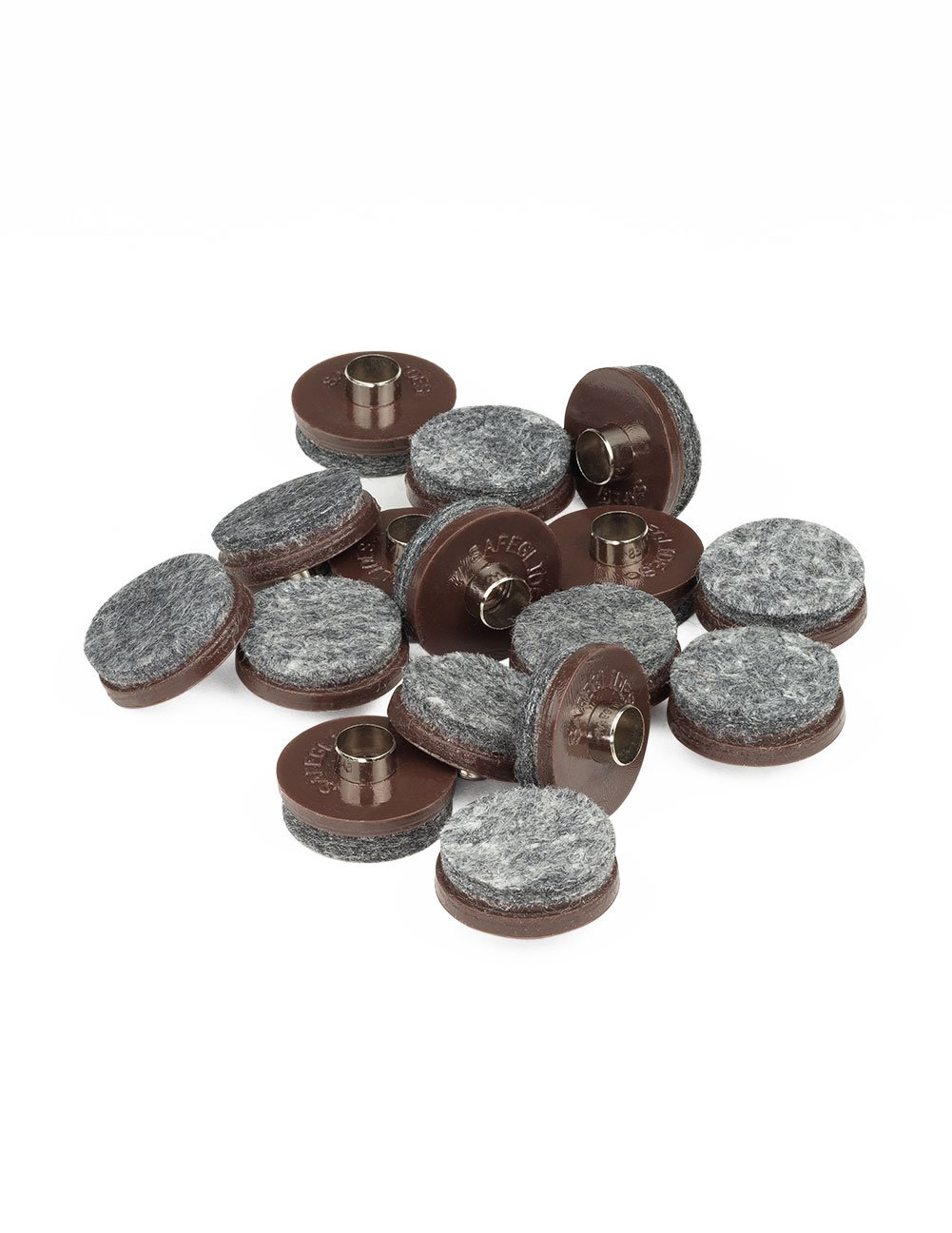 1 INCH DIAMETER FELT GLIDER - BROWN, 8 PIECE PACK by The Felt Store