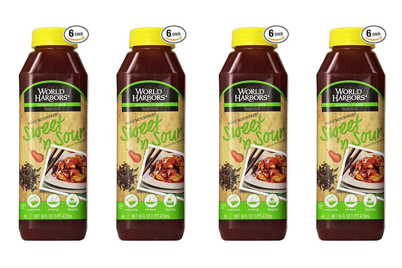 World Harbors Maui Sweet and Sour Sauce, 16-Fl Oz Bottles (Pack of 6) (4 Pack)