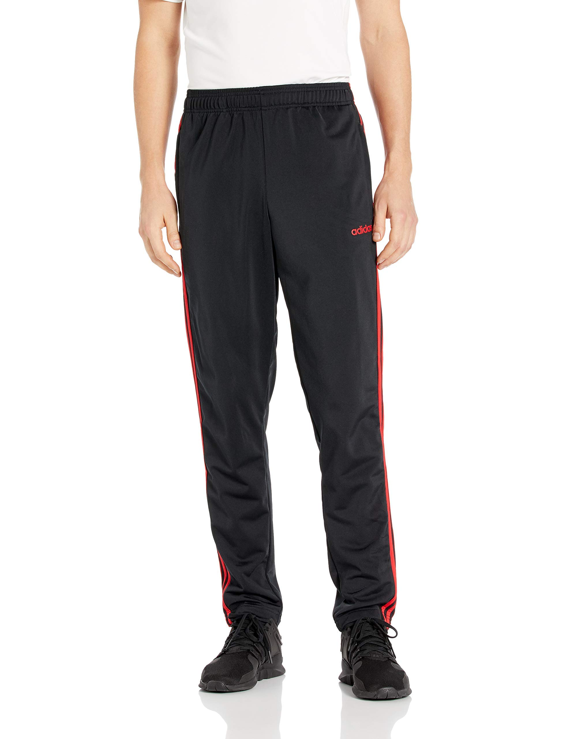 adidas Men's Athletics Essential Tricot 3-Stripe Pants, Active Black, Small by adidas
