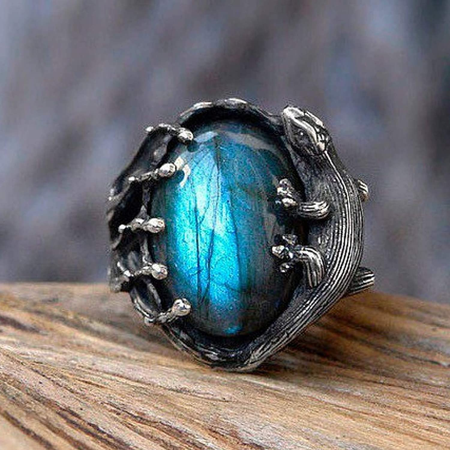 labradorite stone ring Victorian ring vintage ring silver gemstone ring handmade ring solitaire ring collection of gemstone ring