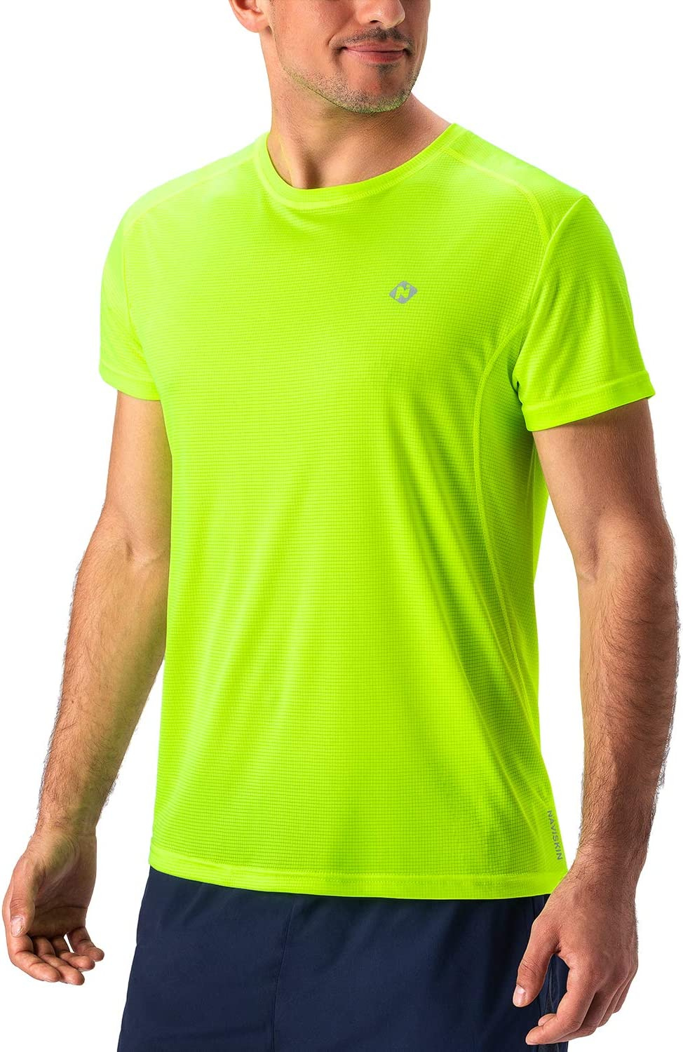 Naviskin Men's Quick Dry Workout Running Athletic Short Sleeve T-Shirt Outdoor Shirt: Clothing