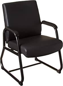 Boss Office Products Heavy Duty Caressoft Guest Chair in Black