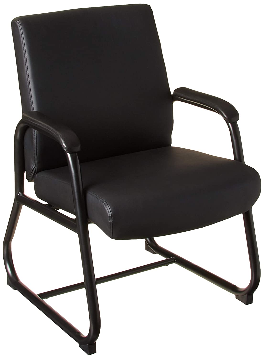 B002FB6Z7O Boss Office Products Heavy Duty Caressoft Guest Chair in Black 71YVo3PM98L._SL1500_