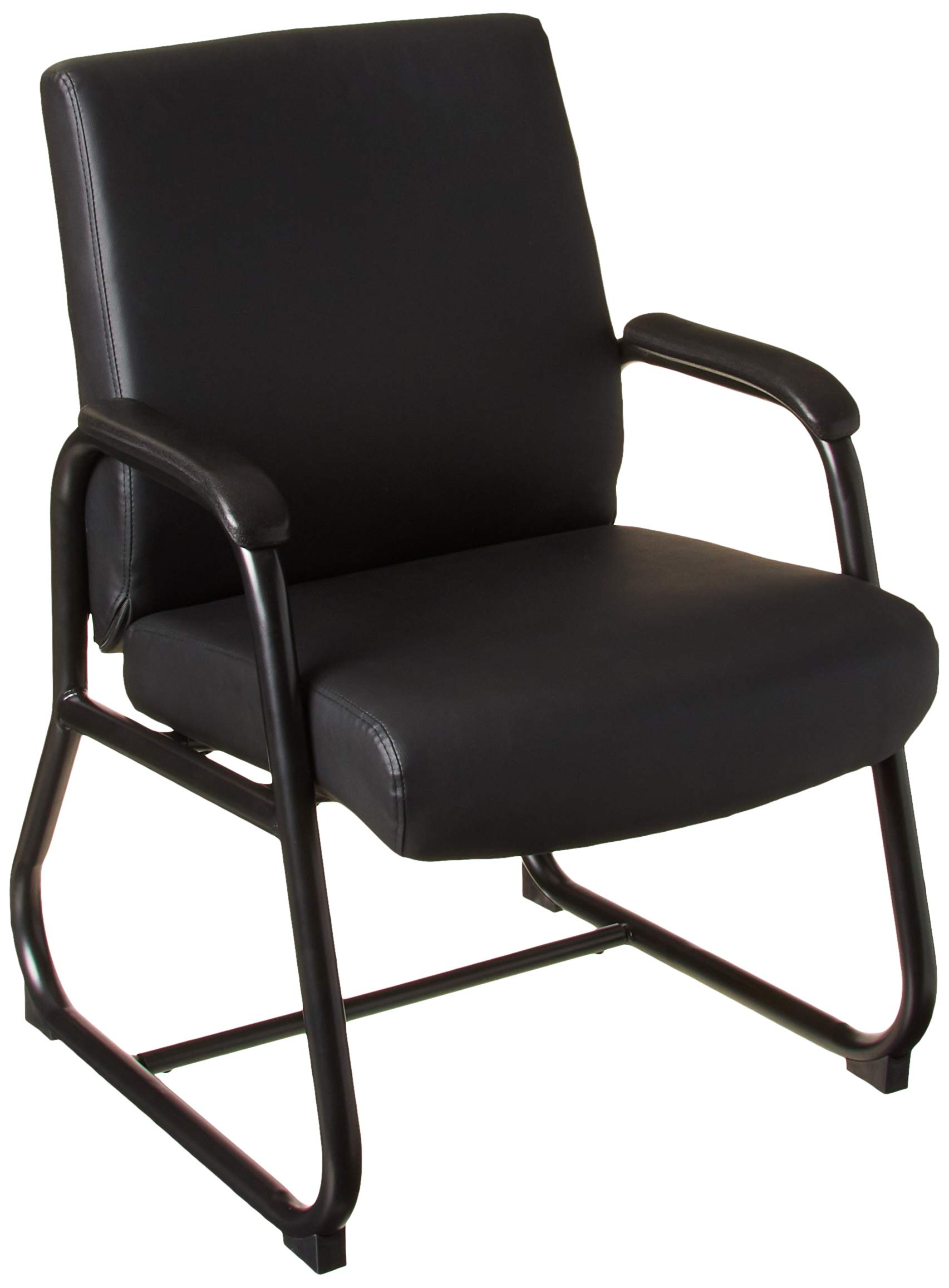 Boss Office Products Heavy Duty Caressoft Guest Chair in Black by Boss Office Products