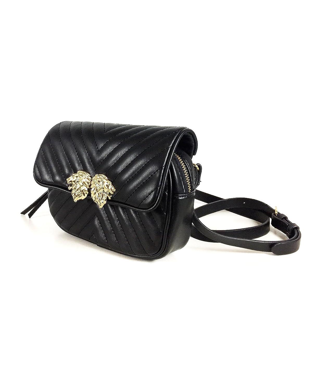 1cc46239c2cf Amazon.com: Zara Women Crossbody belt bag with lions detail 8417/204 ...