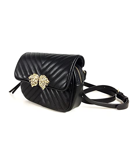 f522bd16e1 Zara Women's Crossbody belt bag with lions detail 8417/204: Amazon.co.uk:  Clothing