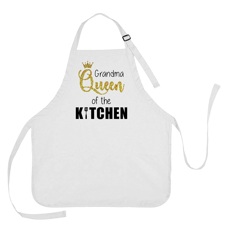 Grandma Queen of the Kitchen Apron, Grandma Queen of the Kitchen Gift, Mothers Day Apron for Grandma, Mothers Day Apron