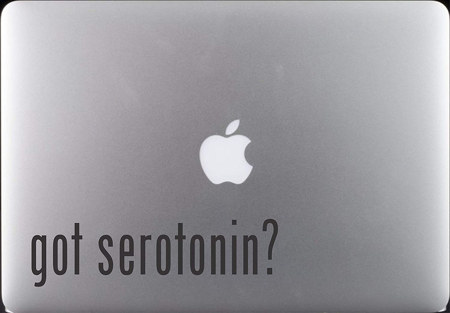 "Got Serotonin ? Vinyl Decal Sticker for Macbook Pro 11"" 13"" 15"" Apple Laptop Scientific Science Decor Decoration, Sticker: 7 X 2 Inch"