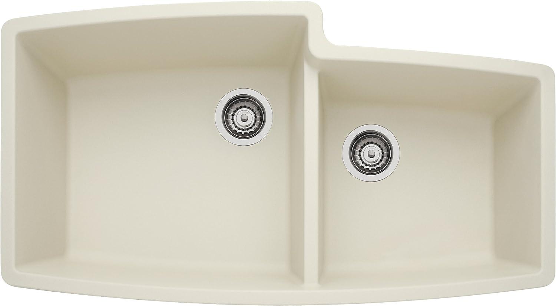 Blanco 440075 Performa Silgranit II 1-3 4 Bowl Sink, biscuit