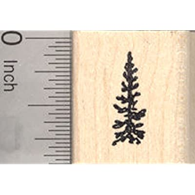 Tiny Pine Tree Rubber Stamp, Great Evergreen for Scenes, Fir: Arts, Crafts & Sewing