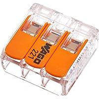 Wago hefboomverbindingsklem 3 x 0,2-4mm2, 10 stuks per verpakking, BLV221413