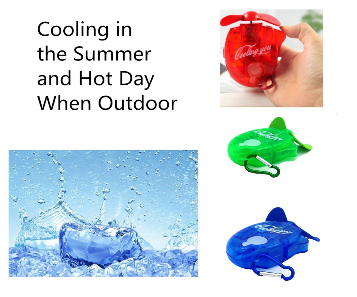 esbuy Carabiner Water Misting Fans Cooling Fan mini Hanger 3pcs,one Set by esbuy (Image #7)