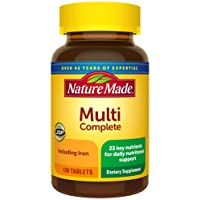 Nature Made Multivitamin Complete Tablets with Vitamin D3 and Iron, 130 Count (Packaging...