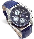 SEIKO クロノグラフ 腕時計 本革ベルトセット 国内セイコー正規流通品 ネイビー ブルーベルト SND365P1-BL [並行輸入品]