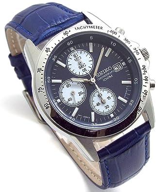 detailed look 07539 6b419 Amazon | SEIKO クロノグラフ 腕時計 本革ベルトセット 国内 ...