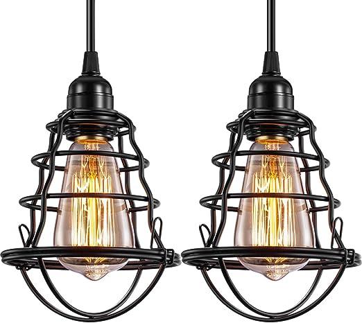Amazon.com: Lámpara de techo industrial INNOCCY E26 E27 ...