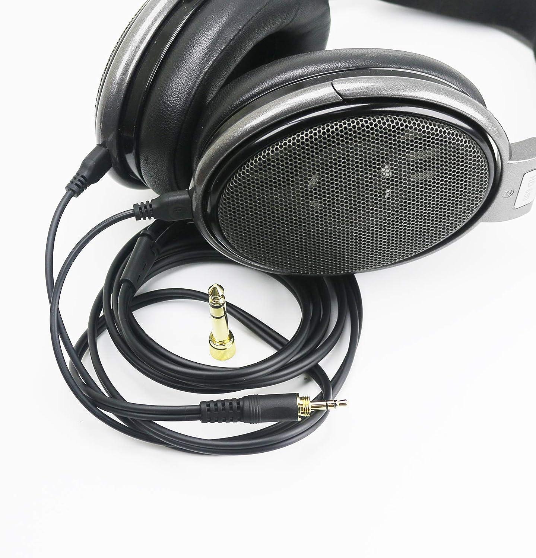HD600 Replacement Audio Upgrade Cable Compatible with Sennheiser HD650 HD565 Massdrop HD6XX Headphones 1.5meters//4.9feet HD660S HD525 HD545 HD535 HD265 HD580 HD58X