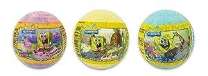 Bela, Spongebob Squarepants Scented Bath Bombs, Bubble Bath Fizzies Gift Set for Kids - Pack of 3, Assorted Scents