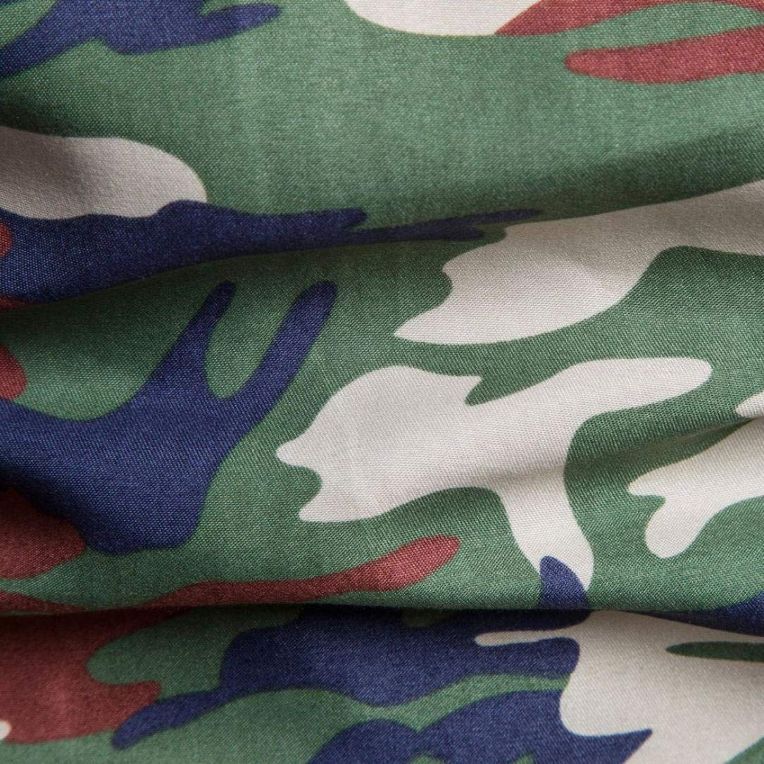 POLPqeD Uomo Camicia Camouflage Stampa Pullover Manica Lunga T-Shirt Top Camicetta