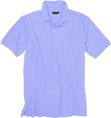 Azul claro Camiseta Polo en tallas especiales hasta 8XL Redfield