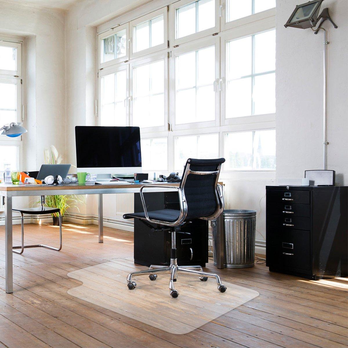 Sturdy Desk Chair Mat for Hardwood Floors Transparent Non Slip Premium Quality Floor Mat 36'' X 48''