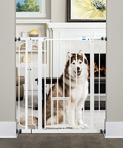 "Retractable Baby Gate Expandable Wide 32/"" Tall For Kids Safety Pet Fence Barrier"