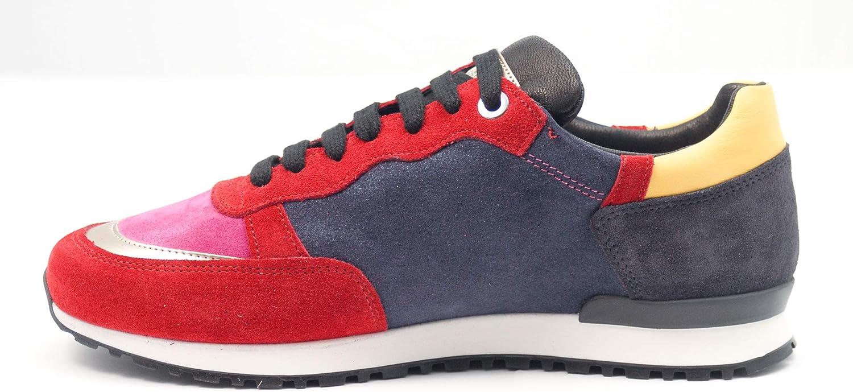 D'Acquasparta Portogallo New Bomber Chaussures à lacets pour homme Rouge et Rose
