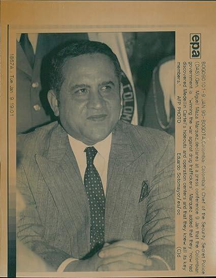 Amazon.com: Vintage photo of Gen. Miguel Maza Marquez ...