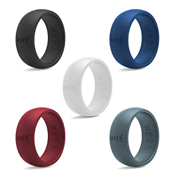Rubber wedding bands for military