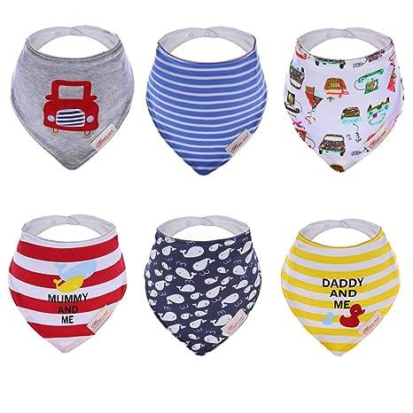 Hosee 6 piezas con mangas para bebé con instrucciones para coser baberos 100% de cama ...