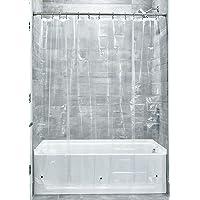 InterDesign 3.0 Liner Forro para cortina de ducha, cortinas de baño antimoho de 183,0 cm x 183,0 cm fabricadas con PEVA…