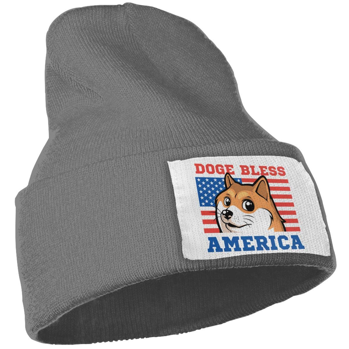 Unisex Winter Hats Doge Bless America Flag Skull Caps Knit Hat Cap Beanie Cap for Men//Womens