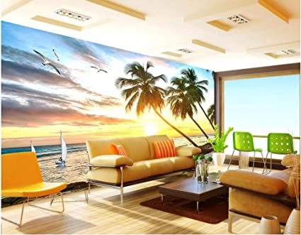 lwcx custom mural 3d wallpaper sunshine beach sailing scenery homeimage unavailable image not available for color lwcx custom mural 3d wallpaper