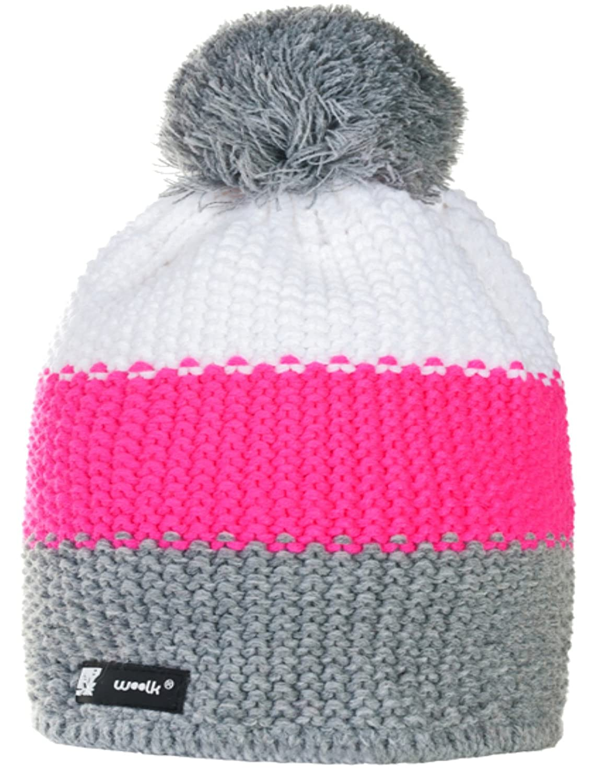 Kinder Mütze Kids Knitted Wolly Style Beanie Lolly Ponpon Men's Women's Winter Warm SKI Snowboard Hats FLUOCCO