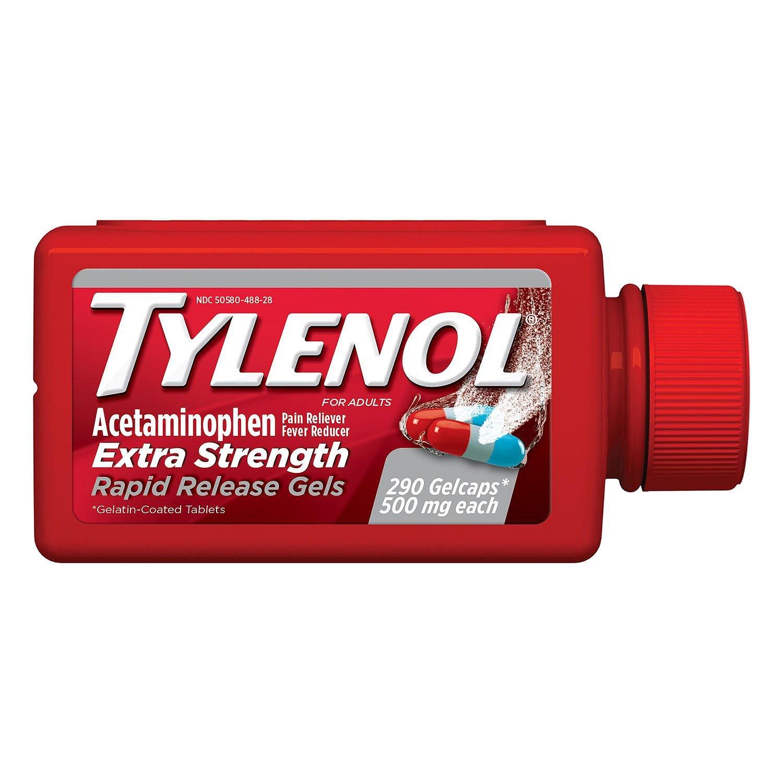 Tylenol Rapid Release Gels (290 ct.) (pack of 6)
