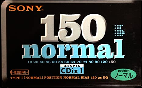 Japan domestic market SONY CDix I 64 Type I cassette tape