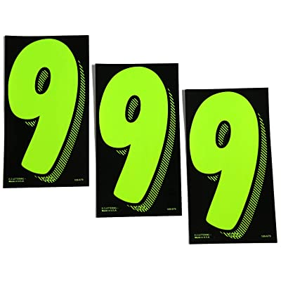 7 1/2 Green Chartreuse Pricing Numbers for Car Dealers 3 Dozen (# 9\'s): Automotive [5Bkhe1506143]