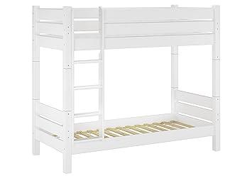 Etagenbett Nische 100 : Erst holz® etagenbett für erwachsene 80x200 weiß nische 100 teilbar