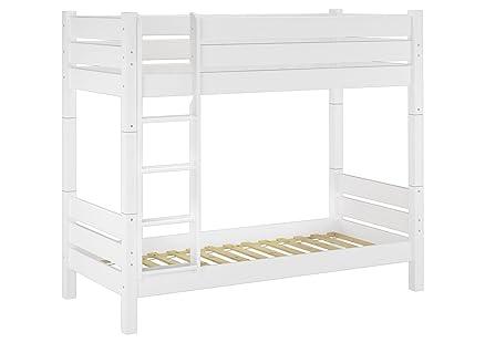 Solido letto a castello di pino color bianco adatto anche PER ...