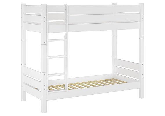 Hochbett Erwachsene 100x200 : Erst holz  w t etagenbett für erwachsene weiß