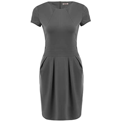 ACEVOG Women's Work Dress Official Wear to Work Retro Business Bodycon Pencil Dress at Amazon Women's Clothing store